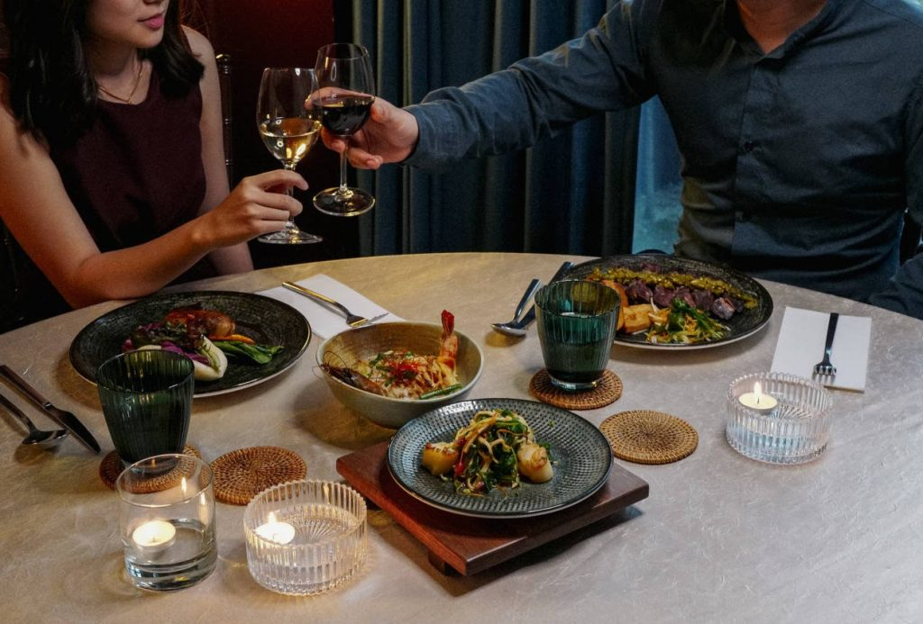 PRIVATE @ the Chow Kit - Couple dining with wine & food